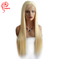 Hesperis Silky Straight Solid #613 Blonde Full Lace Wigs Brazilian Remy Human Hair 150 Density Glueless Pre Plucked Baby Hair