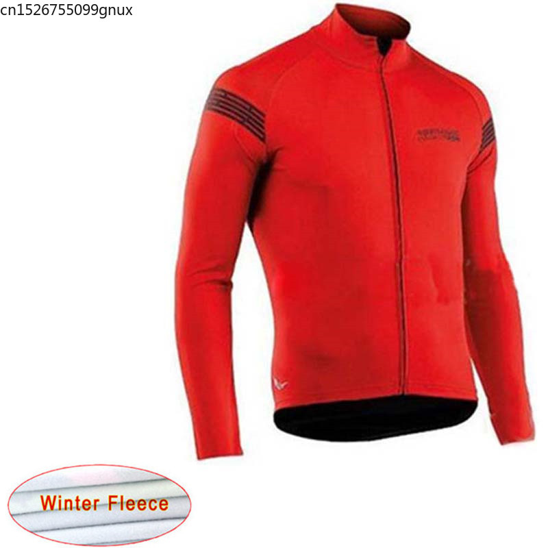NW 2019 Winter Long Sleeve Cycling Jersey Tops Thermal Fleece Racing Bicycle Cycling Clothing Maillot Ropa Ciclismo Hombre C2(China)