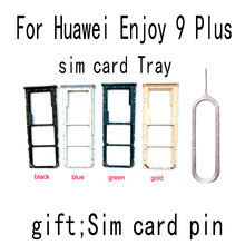 For Huawei Y9 2019 Enjoy 9 PLUS SIM Card Slot Tray Replacement phone small parts free shipping Full information can be tracked(China)