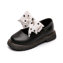 Mary Jane Girls Shoes PU Leather Children School Sneakers 2019 Fashion Flats Heel Princess Shoes Dot Bow Kids Shoes Girls Party цена 2017