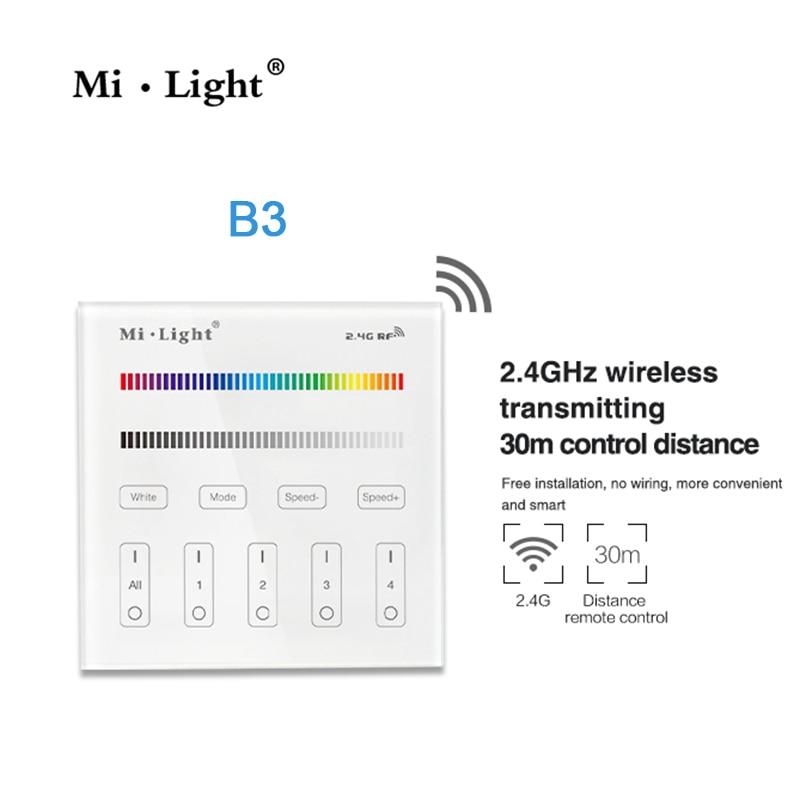 Milight B3 4-Zone RGB RGBW et luminosité gradation Panneau Intelligent À Distance Contrôleur pour led bande lumière Mi. light lampe ou ampoule