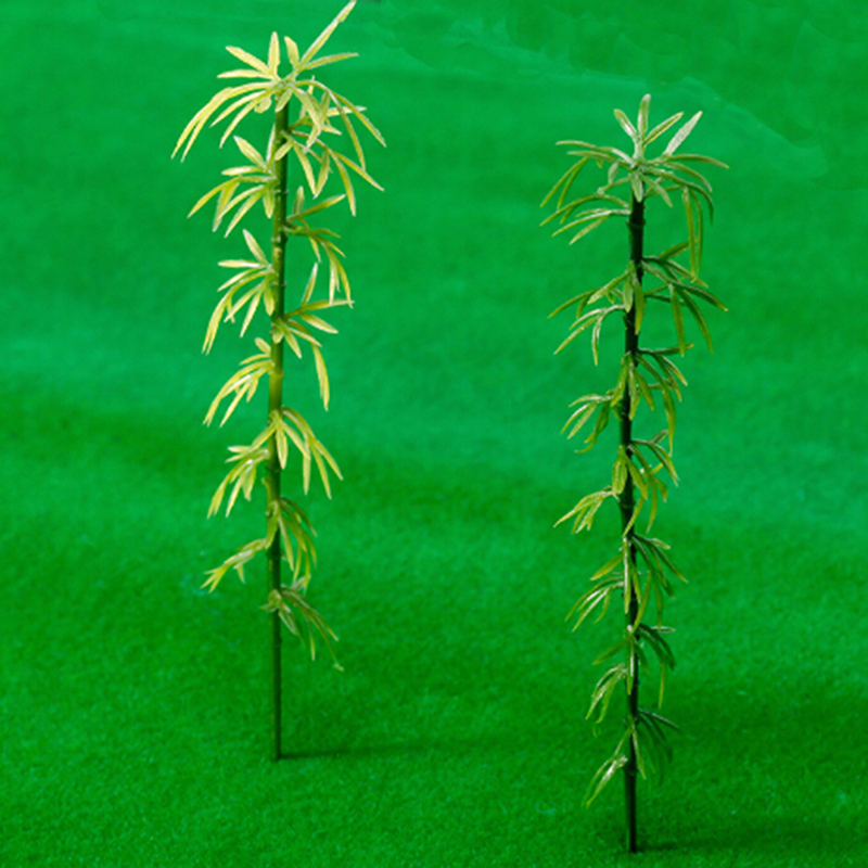 10pcs Artificial Green Bamboo Leaves Fake Green Plants Greenery Leaves For Hotel Office Home Decoration