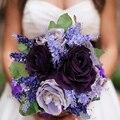 Свадебный букет 2015 искусственные цветы шелковый обеденный стол невесты с цветами в руках небольшой комплект бойер высокая моделирования цветок