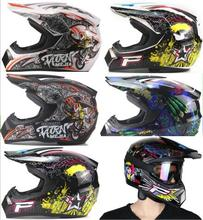 3PCS/SET  M/L/XL Breathable Motorcycle Helmet Lightweight Full Face Racing Motorcycle Safety Unisex ABS Shell Motorbike Helmet