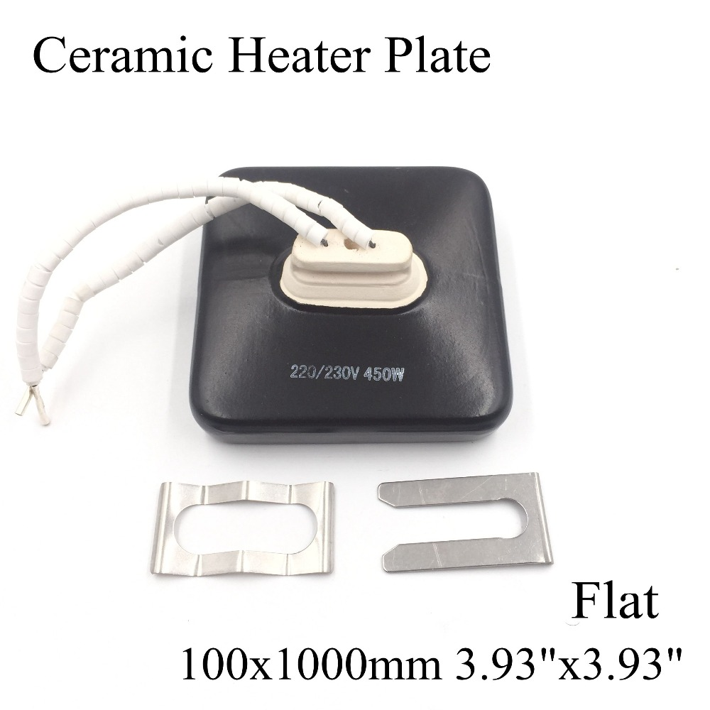 100*100mm Flat Vacuum Injection Molding Machine Repair Far-infrared IR Ceramic Heating Plate Air Ceramic Heater Board Pad t motor 1255 three hole carbon fiber propeller cw ccw for rc aircraft 2 pairs