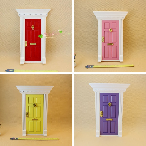 MINI Dollhouse 1:12 Mini DOLLHOUSE Doll House Food Play Accessories Furniture Flat Top Color Door 80007 Four Colors Optional