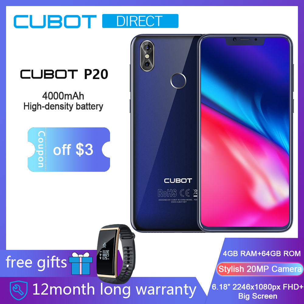 Cubot P20 4GB 64GB Android 8 0 19 9 6 18 2246 1080 FHD Notch Screen