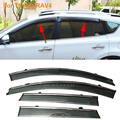 Car Stylingg Awnings Shelters 4pcs/lot Window Visors For Toyota RAV4 2009-2015 Sun Rain Shield Stickers Covers