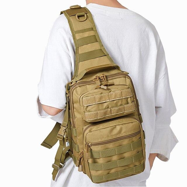 Chiến Thuật Túi Đeo Trước Ngực Túi Đeo Quân Đội Sling Lưng Ba Lô Camo Quân Sự Săn Bắn Túi Cắm Trại Đi Bộ Đường Dài Quân Mochila Molle Đeo Vai Gói