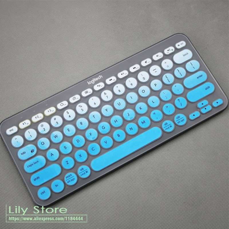 Silicone Keyboard Cover  multi-device mechanical skin Protector  For logitech K380 K 380 Bluetooth keyboard