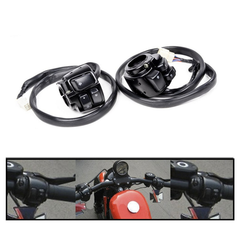 25MM Motorcycle Handlebar Control Horn Turn Signal Light Start Switch Moto Switch for 1996-2012 HARLEY SOFTAIL DYNA SPORTSTER 2017 new yohe full face motorcycle helmet motorbike racing helmets made of abs and pc lens visor model yh 991 size m l xl xxl