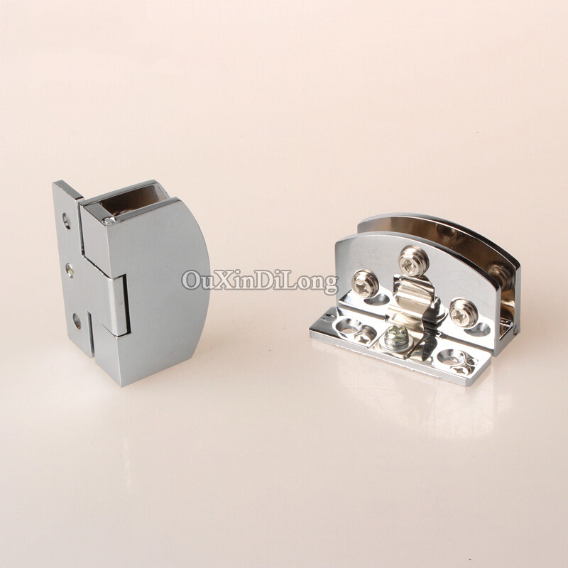 все цены на Hotsale 1Pair=2PCS Glass Cabinet Door Hinges Wine Cabinet Door Hinges Glass Hinges for Cabinet Cupboard Glass Clamps No Drilling онлайн