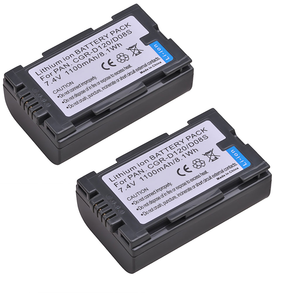 Tectra 2000mAh 2pcs CGR-V610 CGR V610 CGRV610 Battery for Panasonic NV-RX14 NV-<font><b>RX18</b></font> NV-RX24 NV-RX27 RX37 RX18B RZ10 Battery image