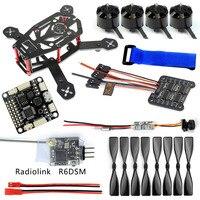 JMT DIY 150 MM FPV Yarış Drone H150 Çerçeve 4000KV Motor 12A 4 IN 1 ESC 3 Inç Sahne Radyolink R6DSM RX SP Yarış F3 Q25 Kamera
