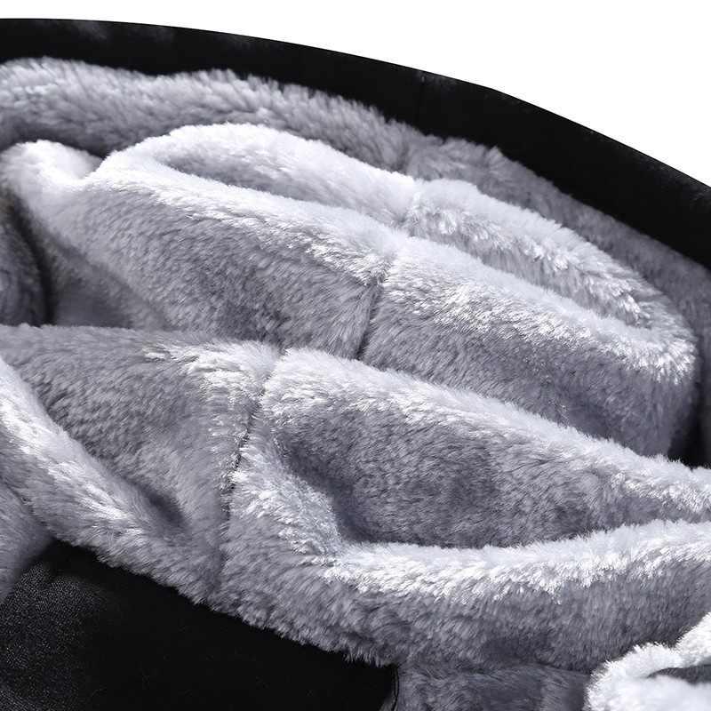 Зимняя мужская куртка и пальто 2019 Теплая Флисовая Толстая парка с капюшоном мужская ветровка из двух частей Спортивный Повседневный спортивный костюм мужской