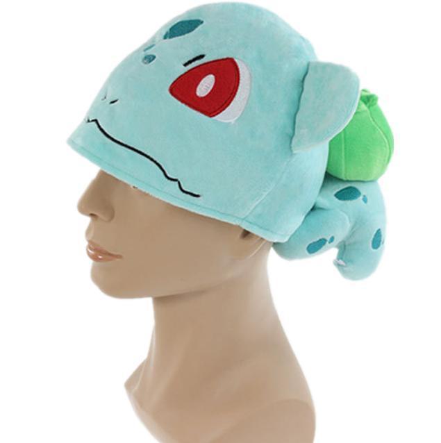 Poke mon Bulbasaur Cosplay Cap Children Warm Plush Bulbasaur Hat Gift for Christmas Retail 1PCS winter hats