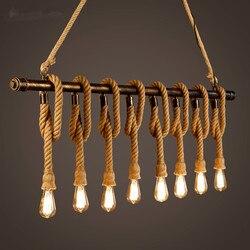 Lampa wisząca ze sznurka konopnego rocznika osobowości oft stolik barowy fajka wodna lampa dekoracyjna