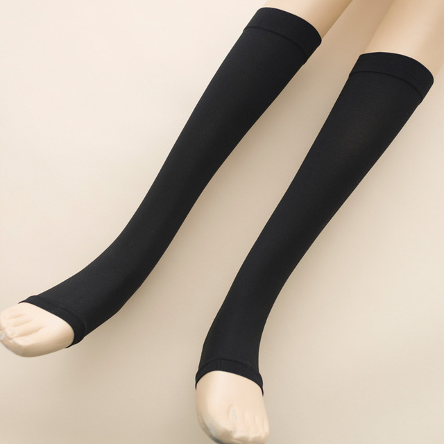 50fec132d 280D women 30mmHG 40mmHG slim compression sox Silicone Thigh medical  Varices closed toe NYLON sock
