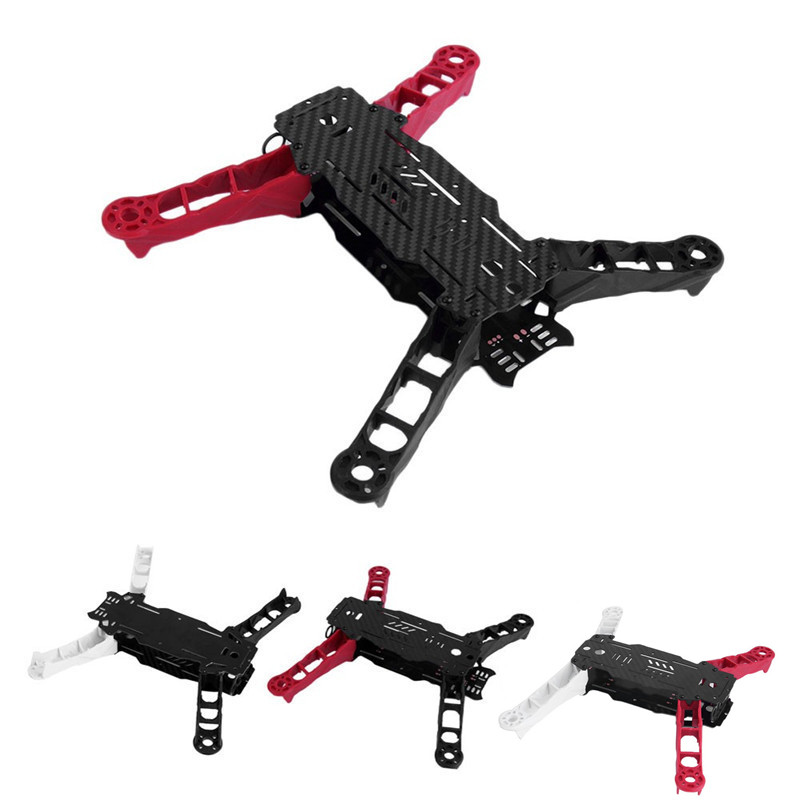 Enzo250 FPV Mini 4 Axis Quadcopter Frame RC Night Flying 250mm Full 3K Carbon Fiber Racing 250 Quad Arms with PCB Plate Board diy fpv mini drone qav210 zmr210 race quadcopter full carbon frame kit naze32 emax 2204ii kv2300 motor bl12a esc run with 4s