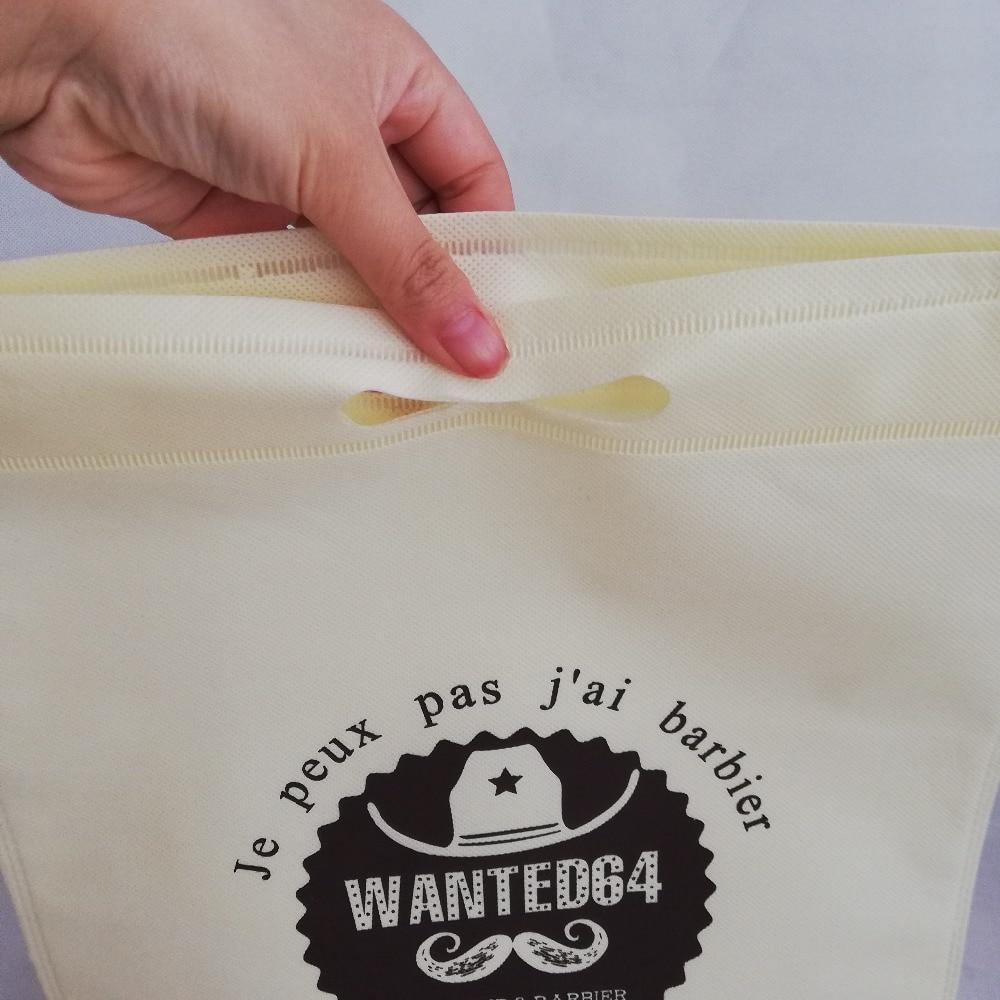 1000 قطعة/الوحدة متوسطة الحجم 40 H x 30 سنتيمتر الترويجية مخصص كيس قابلة لإعادة الاستخدام غير المنسوجة التسوق هدية والترويج أكياس مع يموت قطع مقبض-في حقائب التسوق من حقائب وأمتعة على  مجموعة 3