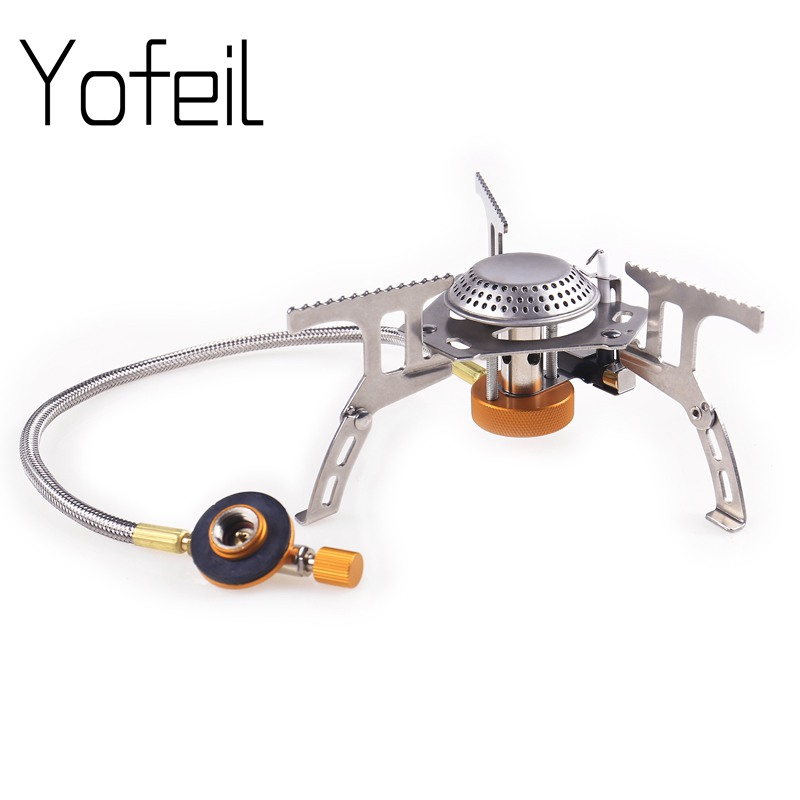 Portable Folding Mini Camping Stoves Outdoor Gas Stove Furnace Picnic Cooking Burners 3000W Cooker Split Stoves цена и фото
