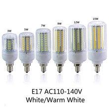AC110V SMD5736 E17 Светодиодная Лампа 3 Вт 5 Вт 7 Вт 9 Вт 12 Вт 15 Вт Led кукуруза Свет Светодиодная Лампа Bombillas