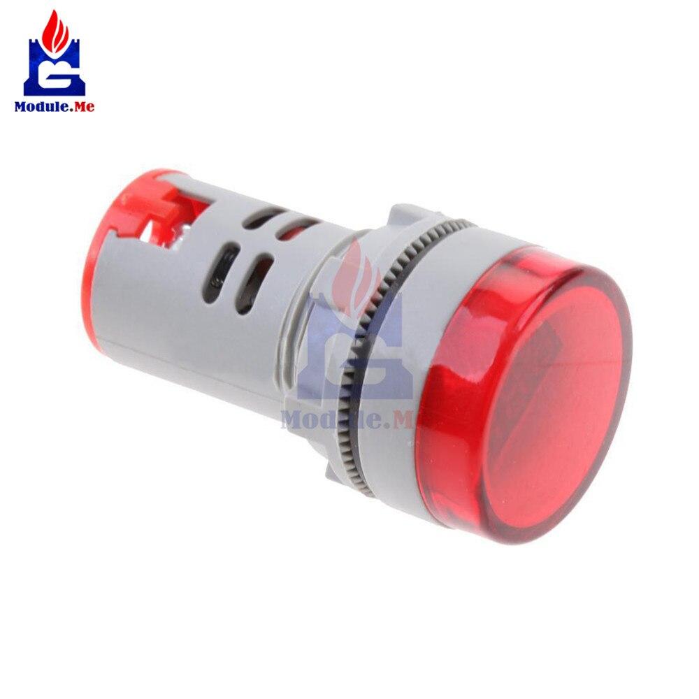 Red Color 22mm Led Digital Display Gauge Volt Voltmeter Voltage Meter Indicator Pilot Light T90 Ac 60v-500v 0-50a Be Shrewd In Money Matters Led Displays Optoelectronic Displays
