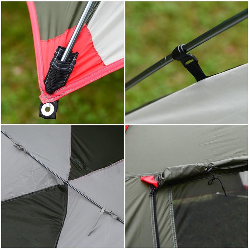 5 8 Mensen Ultralight Regen Proof Draagbare Outdoor Camping Zon Onderdak Van Self Driving Tour Barbecue Strand luifel Tent 2.4*1.9*2M - 6