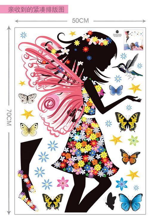 HTB1TEaQKpXXXXaoXpXXq6xXFXXXG Beautiful Butterfly Elf Arts Wall Sticker For Kids Rooms