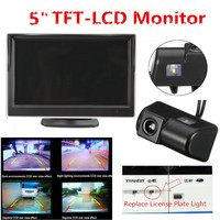 CCD HD Car Parking Backup Camera Car Rear View Reverse Camera + 5 Inch Car Monitor For Ford/Transit Connect