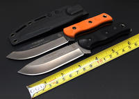Hot Tops Brothers of Bushcraft Fieldcraft Tactical Fixed Knife G10 7Cr17Mov Utility Survival Knives High Quality EDC Tool