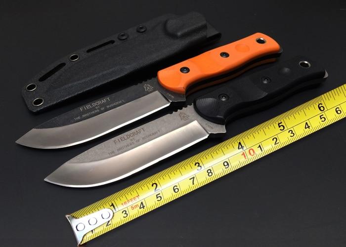 Hot hauts frères de Bushcraft Fieldcraft tactique couteau fixe G10 7Cr17Mov utilitaire couteaux de survie outil EDC de haute qualité