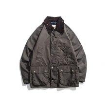 남성 왁스 오일 코트 왁스 방수 자켓 빈티지 의류 트렌치 코트