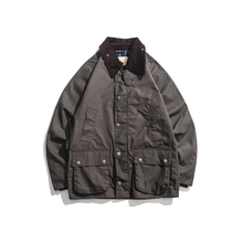 Abrigo de cera para hombre, chaqueta impermeable encerada, ropa Vintage, gabardina