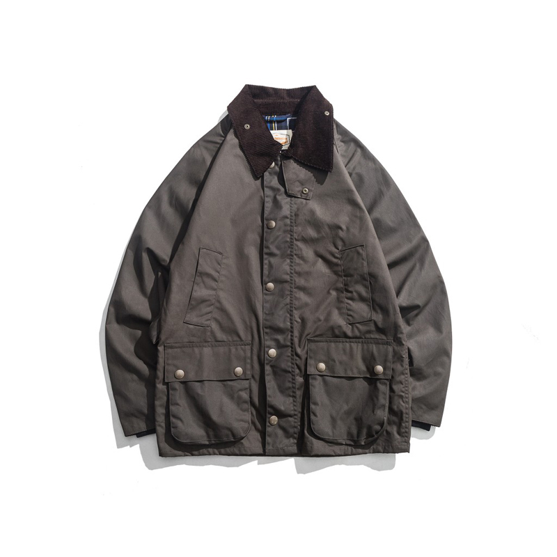 Men's Wax Oil Coat Waxed Waterproof Jacket Vintage Clothes Trench Coat-in Jackets from Men's Clothing    1