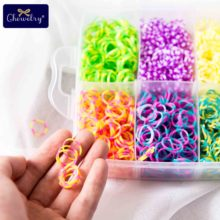 1800pc Elastic Rubber Loom Bands Kids Weaving Bracelet Toys Rainbow Girl Braid Plaits Accessories ChildrenS Goods Gifts