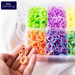 1800pc elásticos de borracha tear bandas crianças tecelagem pulseira brinquedos arco-íris borracha menina trança tranças acessórios para crianças presentes dos bens