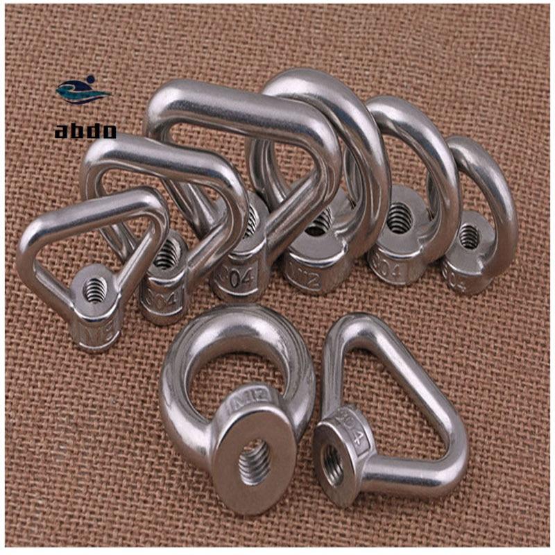 10Pcs DIN582 M3 M4 M5 M6 M8 M10-M24  304 Stainless Steel Marine Lifting Eye Nut Ring Nut Thread HW10810Pcs DIN582 M3 M4 M5 M6 M8 M10-M24  304 Stainless Steel Marine Lifting Eye Nut Ring Nut Thread HW108