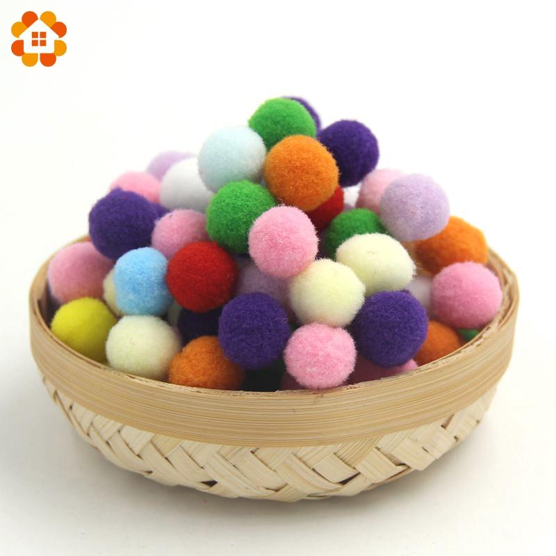 100PCS 15MM Multi Option Pompoms Soft Pom Poms Balls Handmade Craft DIY Home Party Decoration Sewing Accessories Tools Supplies