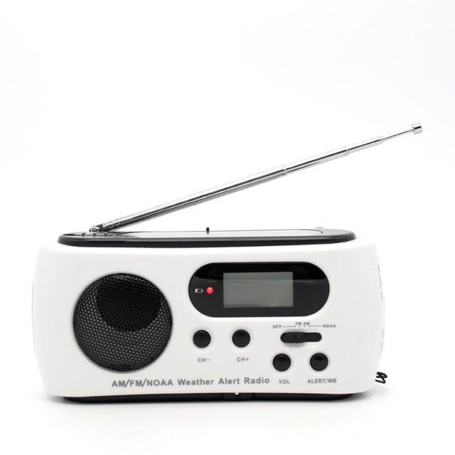 Mini Portátil FM/AM Radio Receptor Manivela Del Dínamo De Energía Solar Digital de Teléfono de Emergencia de Radio Con 3 Linterna LED cargador