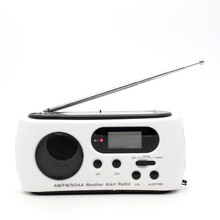 Mini Portable FM/AM Radio Receiver Hand Crank Solar Dynamo Power Digital Emergency Radio With 3 LED Flashlight Phone Charger