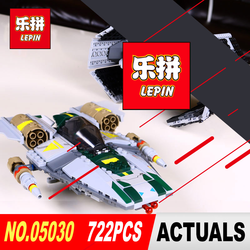 LEPIN 05030 Star Series Wars Vader Tie Advanced VS A-wing Starfighter legoed 75150 Building Blocks Compatible for Children Gifts christmas gifts star wars trek tie