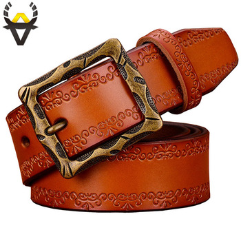 Fashion Designer Genuine leather belts for men High quality classic vintage Pin buckle man belt Second layer cowskin jeans strap