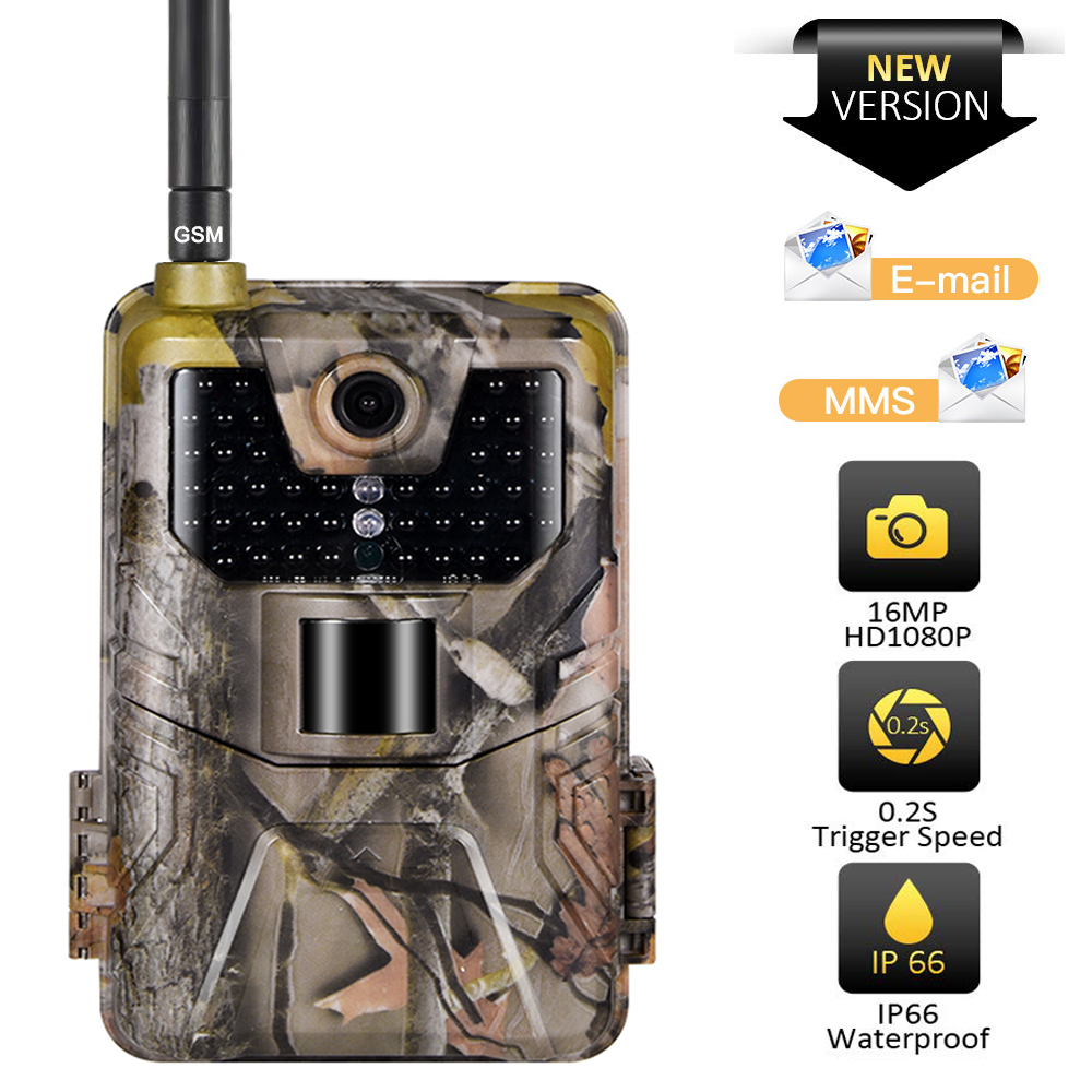 20MP 1080P Wildlife Trail Camera Cellular Night Vision 2G SMS MMS SMTP Email Wireless  Hunting Cameras HC900M Surveillance