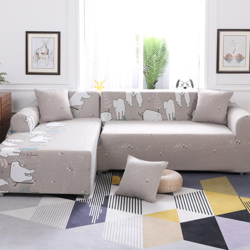 Sensational Cartoon White Polar Bear Pattern 1Pcs Stretch Suede Uwap Interior Chair Design Uwaporg