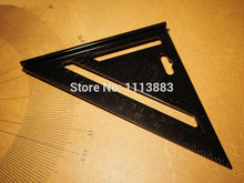 лучшая цена 7inch Black Aluminum Alloy Speed Framing Rafter Square Roofing Triangle Combination Protractor Carpenter Builder Ruler Gauge