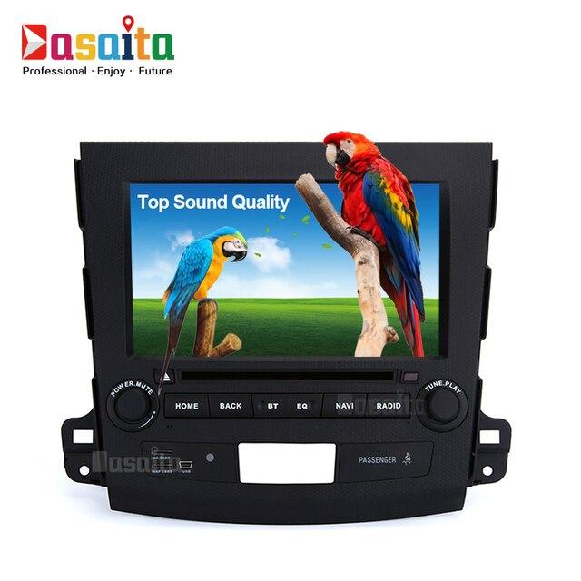 Car GPS stereo dvd player for Mitsubishi Outlander navi radio Headunit Quad Cord Android 5.1.1