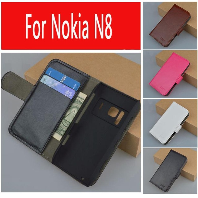 Luxury leather case for Nokia N8 flip cover case With card ss