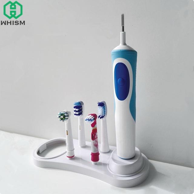 WHISM пластиковый футляр для электрической зубной щетки, зубная щетка, органайзер для хранения зубных щеток, насадка для зубных щеток, белая стойка с отверстием для зарядного устройства
