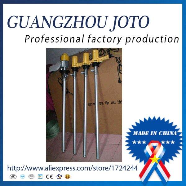 Best-seller SB-1-1 110L/Min pompe à baril électrique pompe de transfert de carburant pour 220 V (tube en acier inoxydable et roue en plastique)
